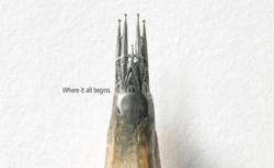 「鉛筆の芯にサグラダ・ファミリアが!」文房具ブランドの広告作品が芸術的