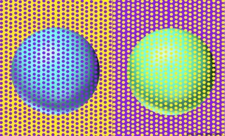 【目の錯覚】青に見える球体と緑に見える球体は全く同じ色→ネット民が検証