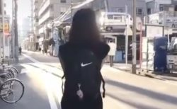 【天才】歩く後ろ姿の女性・・・と思いきや次の瞬間!!?