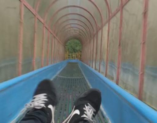 【恐怖の滑り台!】愛媛県今治市にある滑り台、乗ったら最後!絶叫へ!!!!!!(*びっくり注意)