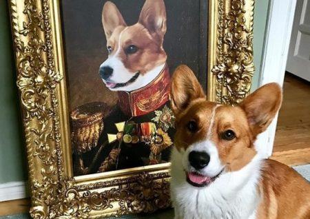 【斬新】ペットの写真を送るとロイヤルっぽい絵画にしてもらえる!こんなの初めて見た!