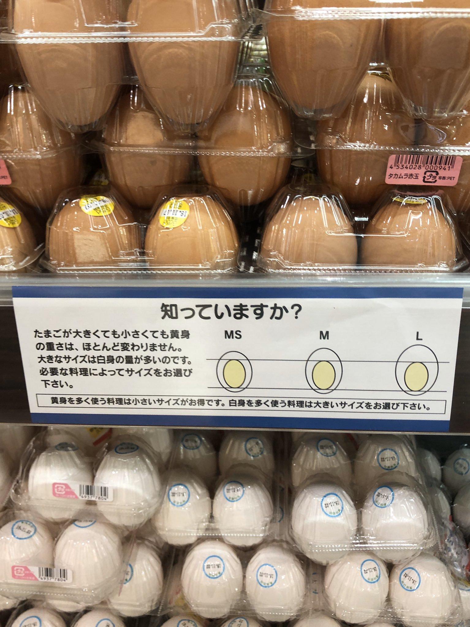"""【驚愕】たまごのサイズで """"卵黄"""" の大きさは変わらないって知ってましたか!?"""