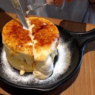 【スイーツ】「TAMAGOYA」の「ブリュレパンケーキ」が美味しそう! これは幸せになれるね!
