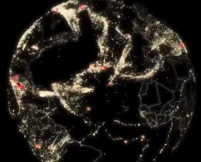【知識】2017〜2018の間に発生した地震の「震源」をCGで仮想地球体に反映させてみた!