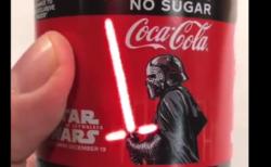 【コカ・コーラ】静電気で光る「有機ELラベル」が格好良すぎる。シンガポールで買えるらしい!