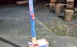 """【通販】斧を購入したら物凄い """"荷姿"""" で届きました。これで発送できるんだね!"""