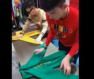 【知識】様々な「衣服」を折りたたむ方法が話題に。これは便利すぎる!