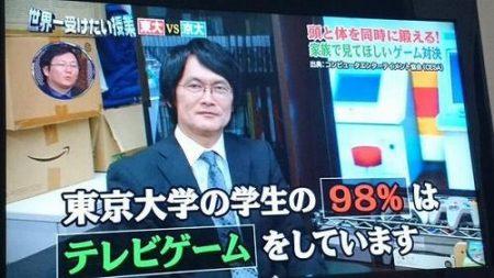 東京大学の学生98%が○○○をしていることが判明!!