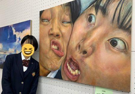 【タイトル:信頼】山梨の女子高生が大賞を受賞した油絵にネット衝撃「躍動感すごい」