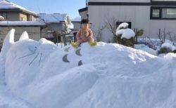 【話題】雪の「トトロ」をご覧ください! トトロいたんか~!