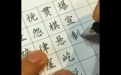 【達筆】ボールペンで漢字を書く「達人」の動画が凄すぎる!