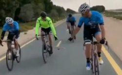 【動画】ロードバイク集団といっしょに飛ぶ鳥が話題。みんな楽しそう!