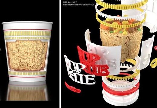【話題】日清xバンダイが作った「カップヌードルプラモデル」1/1スケールですごい!