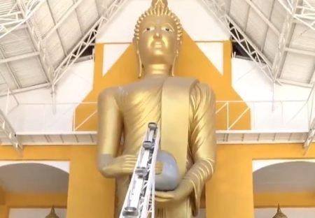 【画期的w】巨大仏立像のハイテクお布施マシーンが話題