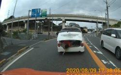 【怖っ!】車間距離を取る事の重要さがよく分かる動画が話題「びっくりした!」