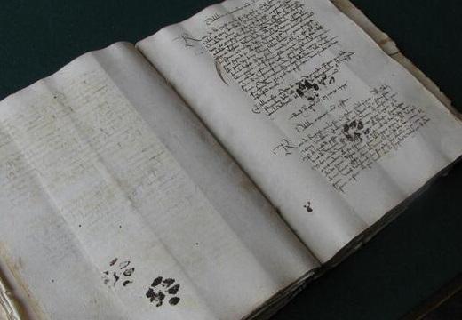 【話題】900年前の書物に子猫の足跡が発見されるw