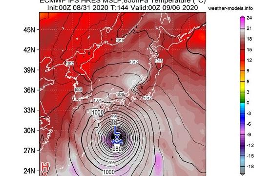 【注意喚起】気象予報士さんより「台風10号の進路と勢力がヤバすぎ。注視を!」