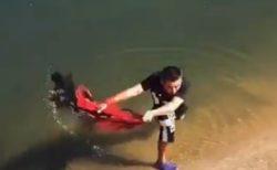 【凄い10秒】投げ網をする漁師の動画、美しすぎてため息
