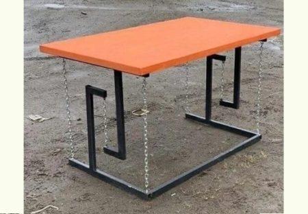 【テンセグリティ】よく見るとぎょっとするテーブルが話題にw