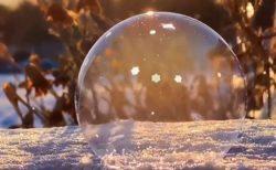 【動画】凍っていくシャボン玉‥神秘的な様子にネット騒然「感動した‥」