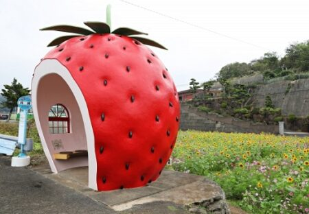 【w】異様に可愛い長崎のバス停が話題に「写真撮りに行きたい!」