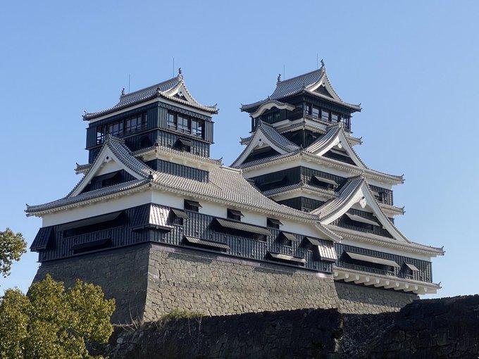 震災で大打撃を受けた熊本城、天守閣の復旧工事が完了した模様(・∀・)