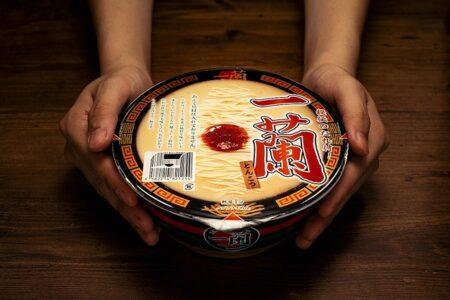 「一蘭」カップ麺がついに登場!(具なし) お値段なんと490円税込