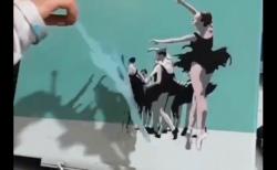 海外「魔法使いか!一体どうなってるんだ!」 ステンシルテンプレートを使った絵描きが凄すぎる!