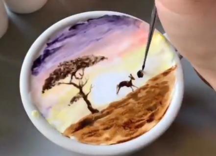 【海外で話題】このラテアートが凄すぎる! こうやって描いてたのか!