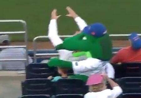 【動画】ファールボールから少年を守ったワニと、倒れたワニを介抱する少年が話題に