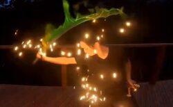 【刀】翠色の炎に包まれる刀‥炎技家さんの動画にネット騒然「美しすぎる」