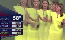 【爆笑】アメリカ、天気予報番組中の放送事故が話題に「久しぶりに笑ったw」