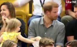 【動画】英ヘンリー王子と、王子のポップコーンに手を伸ばす幼女。その後のやり取りが話題に