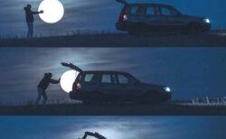 【素敵】月をトランクに積んで・・4枚の写真が話題に