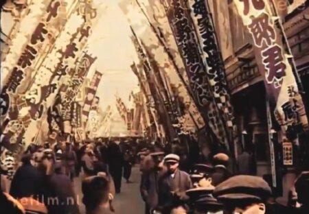 【カラー動画】大正時代の東京が話題「いらっしゃいませ~って言ってる!」「子供がうじゃうじゃw」